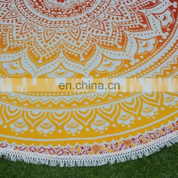 Cold-resistant wholesale custom printed hippie bohemian cotton table cover round table covers
