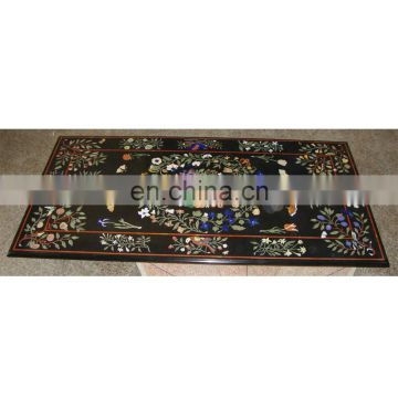 Marble Inlay Dining Table Top, Marble Inlaid Dining Table