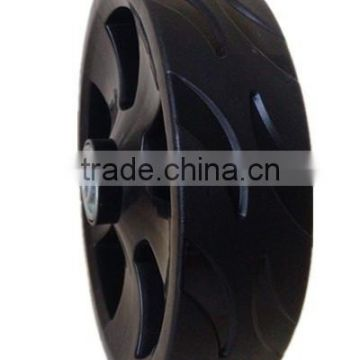 6/7 inch lawn mower plastic wheel with a lid for garden cart, trolley