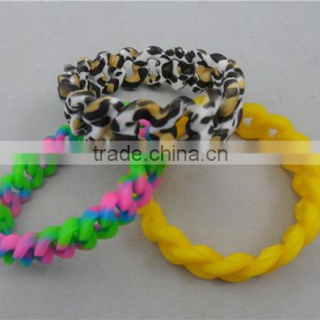 new arrival silicone wristband, engraved silicone bracelet unbreakable elastic silicone rubber band