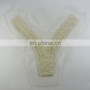 pearl beads collar for garment