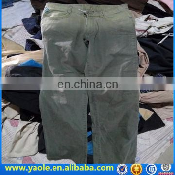 premium mixed used clothings men cargo pants used clothes hongkong