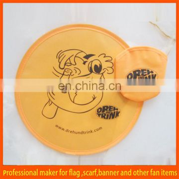 printing polyester foldable flying disc for promotion
