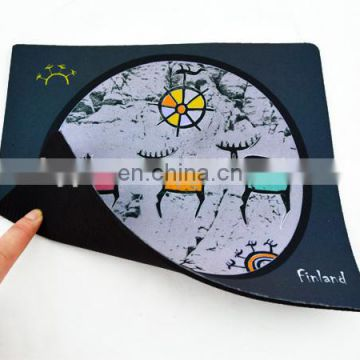 Non slip Rubber Gaming mouse pad Custom design sublimation printed fabric