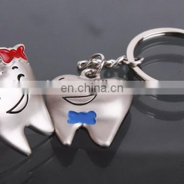 custom metal tooth keychain with smile