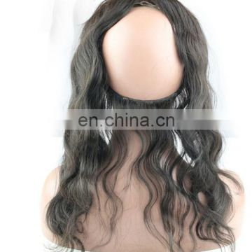 360 Lace Frontal Closure Virgin Brazilian Hair 360 Lace Frontal With Baby Hair