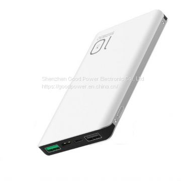 10000mAh aluminum QC3.0 power bank 5V 9V 12V