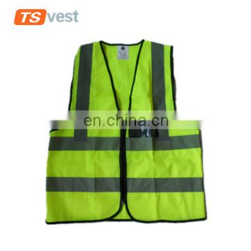 ANSI class 2 100% polyester knitted fabric roadway safety vest