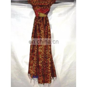 Patchwork Vintage Indian Handmade Silk Stole Reversible Long Stole & Scarf