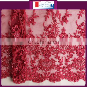 2015 new fashion beaded tulle fabric for lady garment