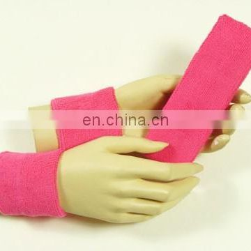 Custom logo printing small order cotton wrist band