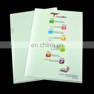 UV printed plastic promotional pp file folder