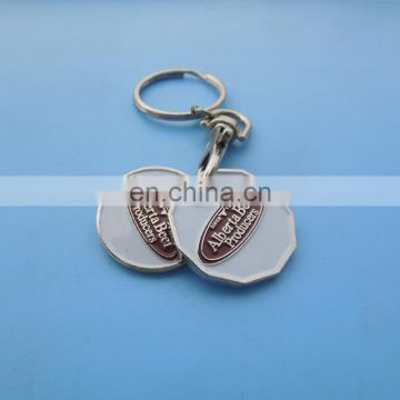 custom logo canadian token trolley coin keyring