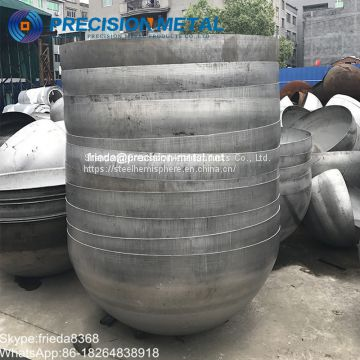 Professional Manufacture large carbon steel hemisphere hemispherical head for welding tank