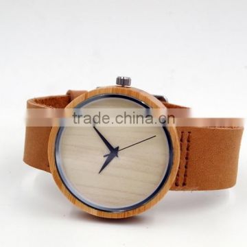 Office lady leather strap watch, easy to open watch button