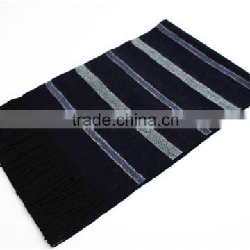 Yarn Dyed Split joint Wool Scarf with fringe