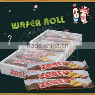 Zestar wholesale chocolate filling wafer roll of Biscuit