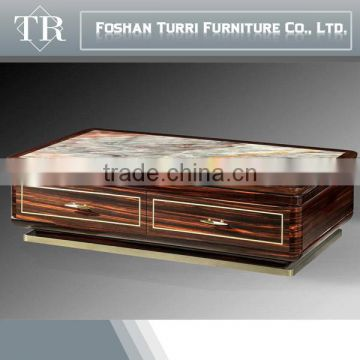 new coming nature italian marble top living room corner table for sale