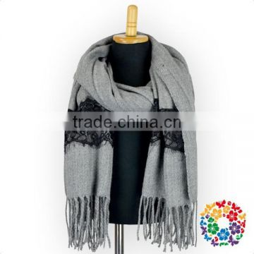 Hot Sale Scarf Shawl Oversize Plain Color Scarf Fall Winter Women Fashion Accessories Warm Scarf With Tassel