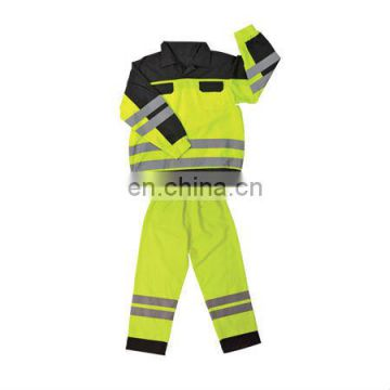 high visibility reflective Two Tone Security Coveralls Conforms to EN471