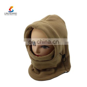 Fashion Wholesale Fashion Camo Winter Hat Beanie Hats Warmer Ski Scarf Balaclava Face polar fleece Hat Neck