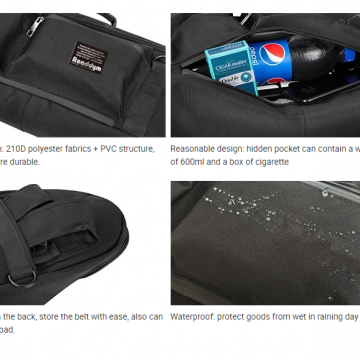 Waterproof nylon fabric carry bag for skateboard