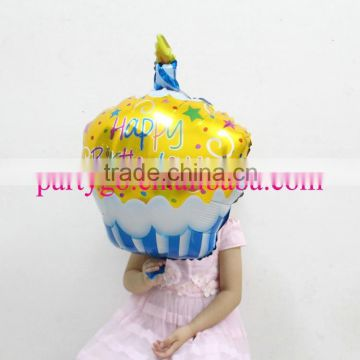 Hot sale 48*30 cm pink color birthday cake balloon for birthday gifts classic toys,foil helium balloons for party decoration