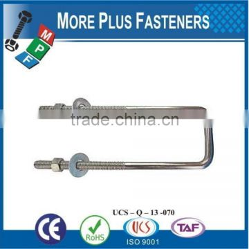 Made In Taiwan Gibraltar Black Phosphate Zinc Plated Square Bend U Bolt