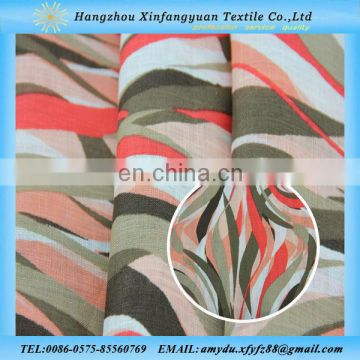XFY printed 100% linen fabric wholesale