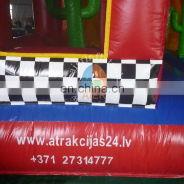 high quality inflatable car slide for kids,indoor&outdoor inflatable slide,bouncy castle with slide