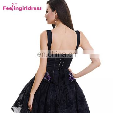 Lace Up Back Plus Size Thermal Waist Leather Overbust Corset