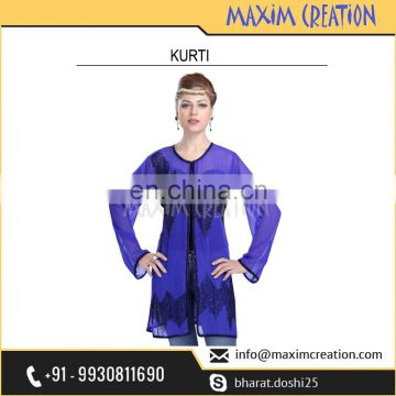 New Stylish Haute Coutre Kurti Caftan For Women 6154
