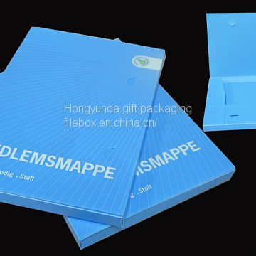China factory wholesale box file custom printed box file for stationery