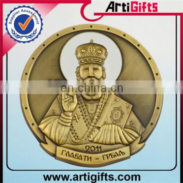 High quality gold cheap souvenir fake metal coin