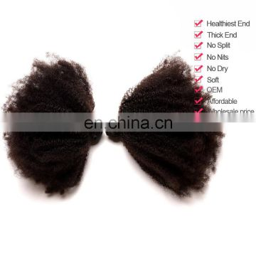 2017 hot sale afro curly brazilian virgin hair human hair weft