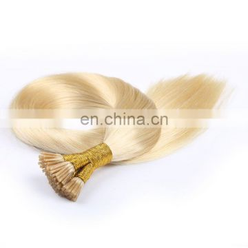 Wholesale Silky Straight 100% Virgin brazilian Hair double drawn I Tip Hair Extensions Pre-Bonded Stick Tip Hair Extension