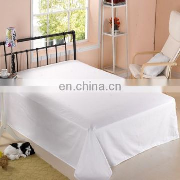 100%cotton hotel plain white bed sheet/fitted sheet/flat sheet