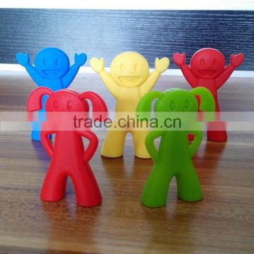 Hot-selling Children's favourite silicone chopstick holders/smile face shape chopstick head for kids