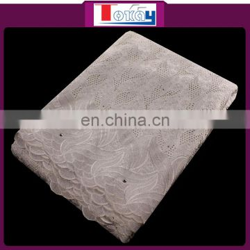 2016 New white cotton swiss voile dresses embroidered fabric for women and men