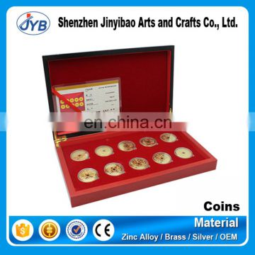 custom logo case for coins commemorative souvenir metal display box