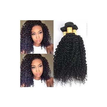 For Black Women Brazilian Curly Human No Shedding Fade Hair 16 18 20 Inch Loose Weave Peruvian