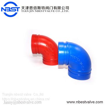 Low Pressure Three Flange Ductile Iron Grooved Fittings DN3000