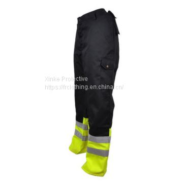Cotton Oil Safety Flame Resistant Pants For Workers