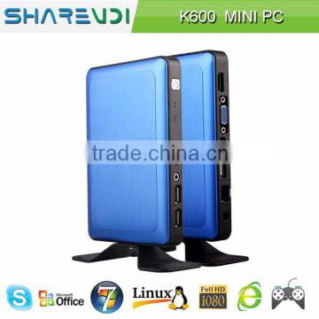 computer monitors guangdong cheap educational thin client K600 blue alumnium alloy case 2GB 32GB