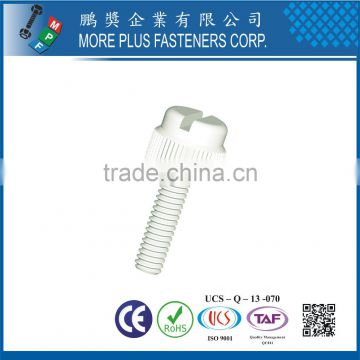 Made in Taiwan Nylon Plastic Knurled Thumb Screw