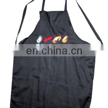 100% Cotton Apron with an adjustable neck visible center pocket, Adjustable Bib Apron Waterdrop Resistant with 2 Pockets Cooking