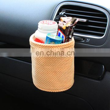 round car trash bag car organizer in orange