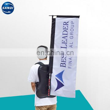 Promotional custom printing advertising backpack banner