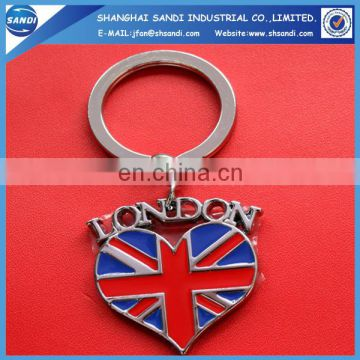 country souvenir zinc alloy keychain for gift