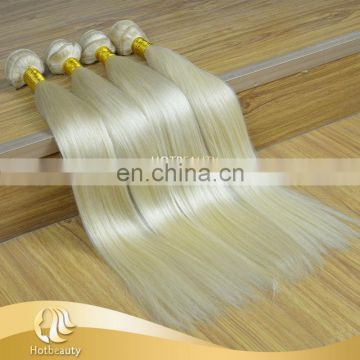 New Arrival Top Quality Human Virgin Hair Extensions White Blonde Hair